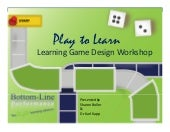Learning Game Design Workshop