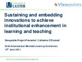 Blended Learning Conference: Sustai...