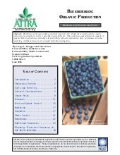 Blueberries: Organic Production