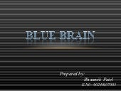 Blue brain seminar by bhaumik patel
