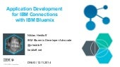 Application Development  for IBM Connections with IBM Bluemix