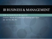Bm Unit 2.4 Leadership & Management