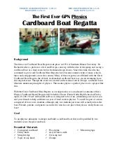 Cardboard Boat Project Overview