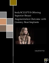 bodySCULPT® Offering Superior Breast Augmentation Outcome with Gummy Bear Implants