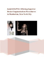 bodySCULPT®  Offering Superior Breast Augmentation Procedures in Manhattan, New York City