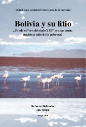 Bolivia y el litio