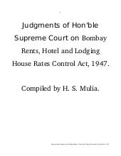 Supreme Court's Judgments on Bombay...
