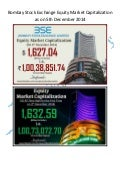Bombay Stock Exchange Equity Market Capitalization as on 5th December 2014