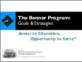 Bonner Goal and Strategies