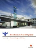 Bon Secours health: system network design and delivery case study