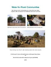 Kenya;  Water for Rural Communities...