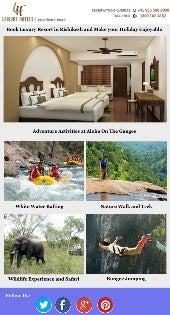 Book Luxury Resort in Rishikesh and Make your Holiday Enjoyable