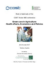 Green care in Agriculture: Health e...
