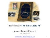 Book review The Last Lecture