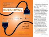 Book summary - The other side of innovation