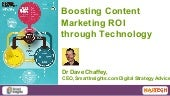 Boosting Content Marketing ROI Through Technology By Dave Chaffey