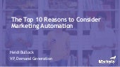 The Top 10 Reasons to Consider Marketing Automation