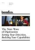 Booz Co Next Wave Of Digitization