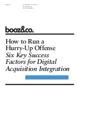 Booz Co Success Factors Digital Acq...
