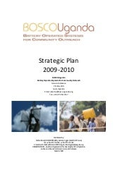 Bosco Uganda   Strategic Plan 2009 ...