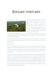 Bosques tropicales