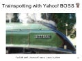 Yahoo! BOSS and trainspotting