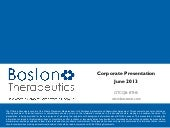 Boston Therapeutics, Inc. video