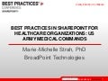 Best Practices in SharePoint for Healthcare: US Army Medical Command