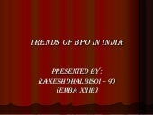Trends Of BPO in India