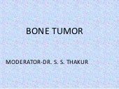 Bone tumours by dr narmada prasad t...