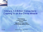 China's 1.3 Billion Consumers: Cash...