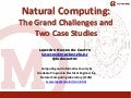 2012: Natural Computing - The Grand Challenges and Two Case Studies