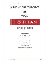 Brand Audit-TITAN