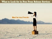 What to look for in free press release services in Toronto?