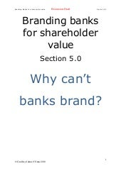 Branding Banks For Shareholder Valu...