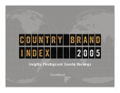 Branding COUNTRY REPORT 2005