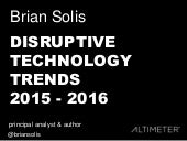 25 Disruptive Technology Trends 2015 - 2016