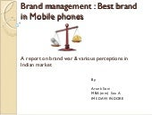 Brand management by arun soni