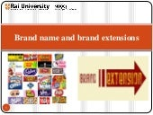 Brand name and Brand Extensions - Introduction to Branding