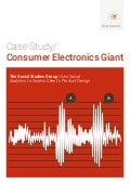 Case study: Consumer Electronics giant use of big data analytics