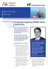 Brazil oil & gas. m&a update. sprin...