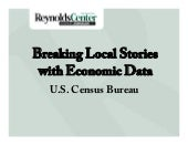 Breaking Local Stories with Economic Data - Census by Paul Overberg (Texas)