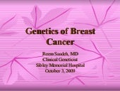 Genetics of Breast Cancer