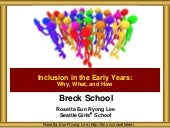 Breck School Inclusion in the Early Years
