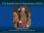 Turning Point 8: The English Act of...