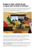 Programma Crescita Internazionale con Bridges to Italy e Global Access Program
