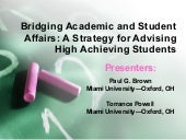 Bridging Academic and Student Affai...
