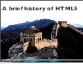 Brief history of HTML5