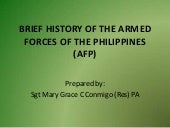 Brief history of the armed forces o...