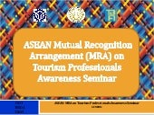 ASEAN MRA on Tourism Professionals ...